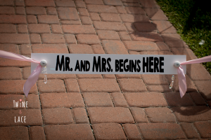 Wedding Aisle Sign