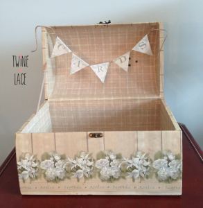 Floral Mini Trunk Card Box Wedding Rental