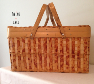 Twine and Lace Vintage Wedding Rentals Picnic Basket