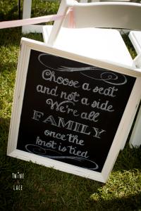 Wedding Seating Blackboard Sign