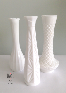 Milk Glass Vases Wedding Rentals
